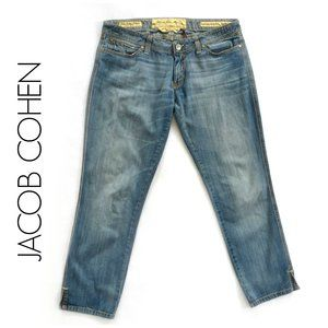 JACOB COHEN Handmade Italian Luxury Crop Jean 32